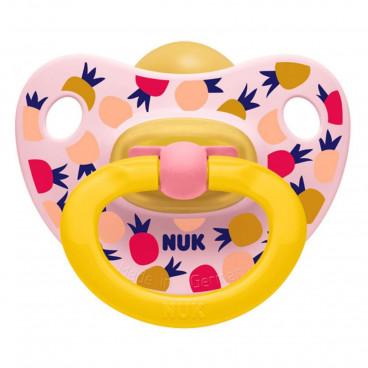 Nuk Πιπίλα Με Θηλή Καουτσούκ 6-18m+ Classic Happy Kids Pink Pineapple 10733319