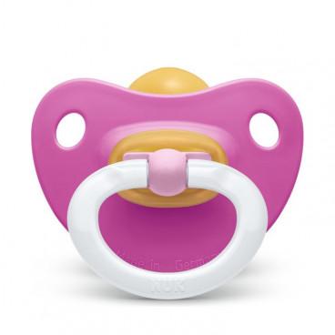 Nuk Πιπίλα Με Θηλή Καουτσούκ 0-6m+ Classic Soft Dark Pink 10725211