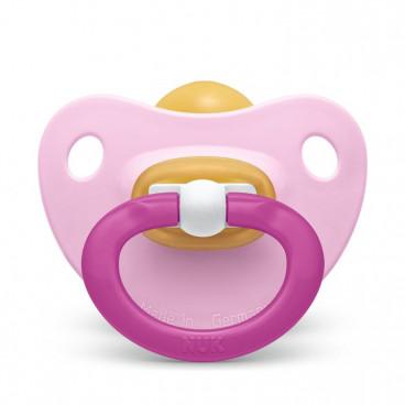 Nuk Πιπίλα Με Θηλή Καουτσούκ 0-6m+ Classic Soft Light Pink 10725211