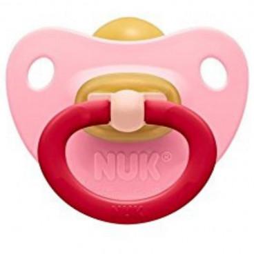 Nuk Πιπίλα Με Θηλή Καουτσούκ 6-18m+ Soft Pink 10733031