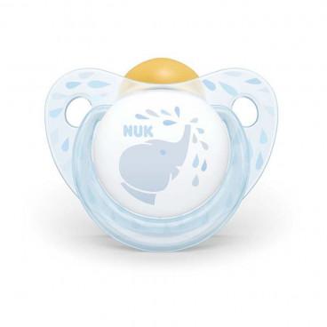 Nuk Πιπίλα Με Θηλή Καουτσούκ 0-6m+ Trendline Baby Blue Elephant 10725200
