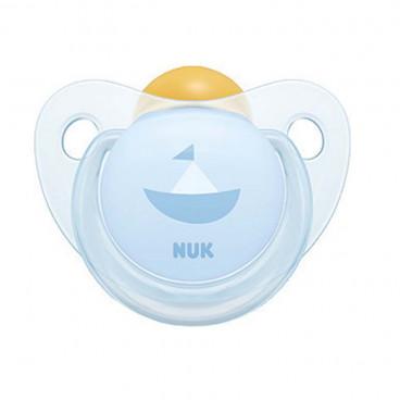 Nuk Πιπίλα Με Θηλή Καουτσούκ 0-6m+ Trendline Baby Blue Ship 10725200