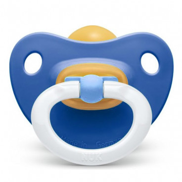 Nuk Πιπίλα Με Θηλή Καουτσούκ 0-6m+ Soft Blue 10726023