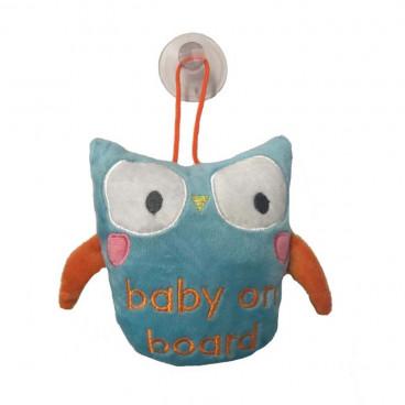 Quattro Baby Σήμανση Αυτοκινήτου Baby On Board Owl 27556