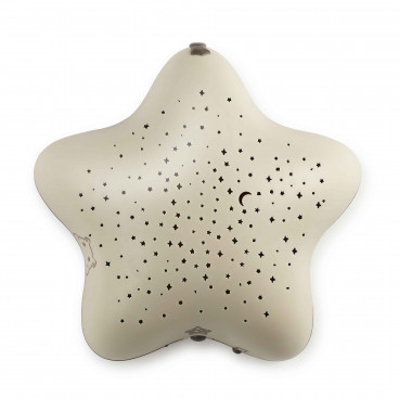 Pabobo Μουσικός Διακοσμητικός Προβολέας Αστεριών SP02BAT-BOIS Beige 2296