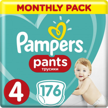 Πάνες Pampers Pants No.4, 9-15kg, Monthly Pack, 176 Τεμάχια