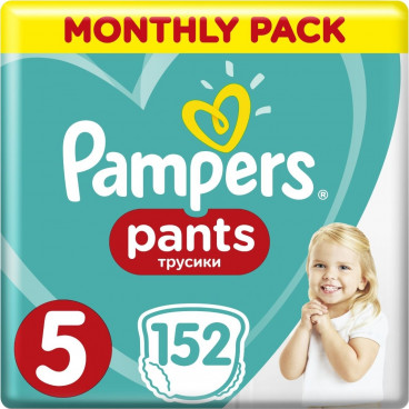 Πάνες Pampers Pants No.5, 12-18kg, Monthly Pack, 152 Τεμάχια