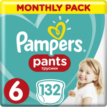 Πάνες Pampers Pants No.6, 15+kg, Monthly Pack, 132 Τεμάχια