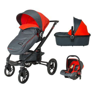 Smart Baby Πολυκαρότσι DHS Arrow 3 Σε 1 Travel System Red 336060820S