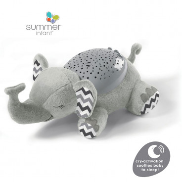 Summer Infant Διακοσμητικός Προβολέας Slumber Buddies®Deluxe Grey Chevron Elephant SIM06896