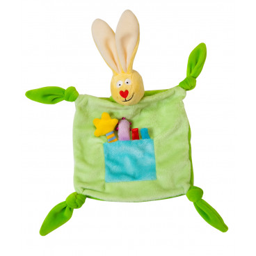 Taf Toys Πανάκι Αγκαλιάς Rabbit Blankie Green  11055