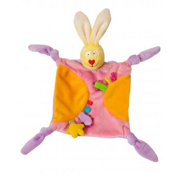 Taf Toys Πανάκι Αγκαλιάς Rabbit Blankie  Orange 11055