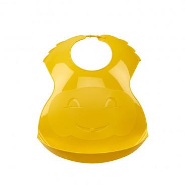 Thermobaby Πλαστική Σαλιάρα Soft Yellow 2153048