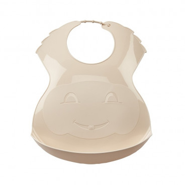 Thermobaby Πλαστική Σαλιάρα Soft Beige 2153053