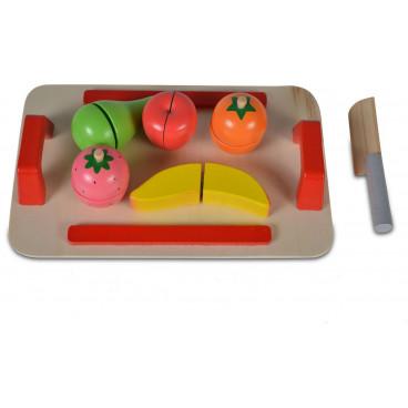Moni Ξύλινος Δίσκος Με Φρούτα 5 Τμχ. 3800146221065