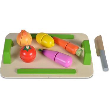Moni Ξύλινος Δίσκος Με Λαχανικά 5 Τμχ. 3800146221072