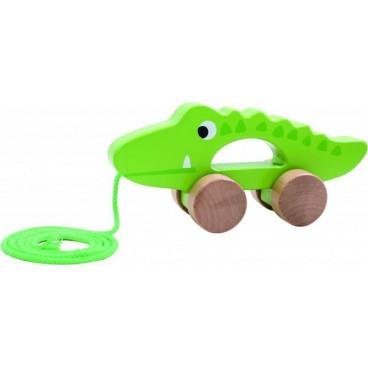 Tooky Toy Ξύλινος Συρόμενος TKC265 Κροκόδειλος 6970090043642
