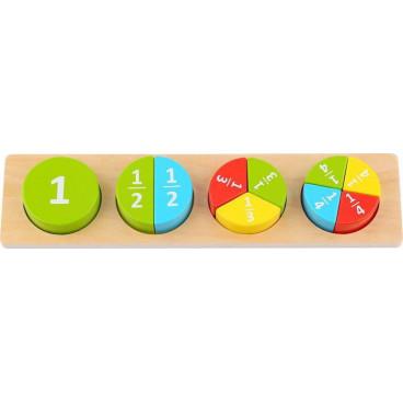 Tooky Toy Ξύλινο Πάζλ Δραστηριοτήτων TL132 Round 6970090042010
