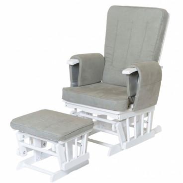 Baby Adventure Πολυθρόνα Θηλασμού White/Grey BR7102000