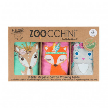 Zoocchini Εκπαιδευτικά Βρακάκια Woodland Princesses ZOO8005