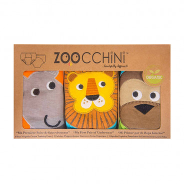 Zoocchini Εκπαιδευτικά Βρακάκια Boys Safari Friends ZOO7002