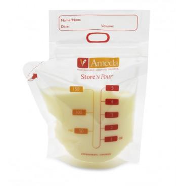 Ameda Σακουλάκι Αποθήκευσης Γάλατος Store 'N Pour - Ανταλλακτικό (40 τεμ.)