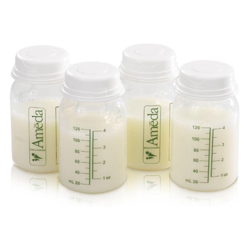 Ameda Μπουκάλι Συλλογής Γάλατος Με καπάκι 120 ml (4 τεμ.)