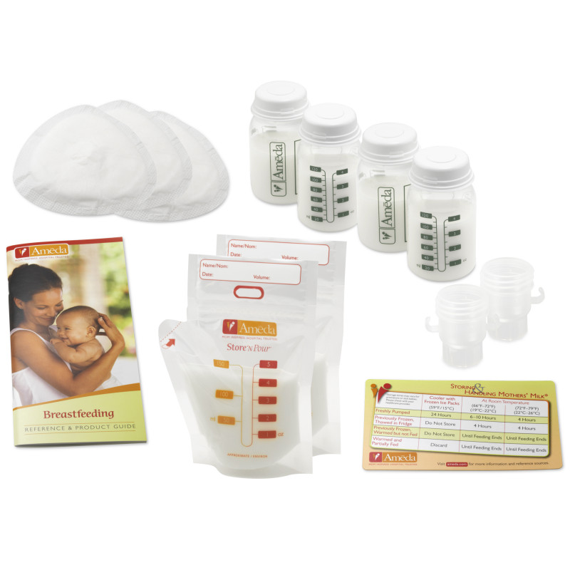 Ameda Σετ Εξαρτημάτων Άντλησης Breast Pumping Accessory Kit