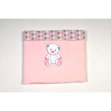 Baby Star Κουβέρτα πικέ μικρή με φάσα χρωματιστή sweet dots