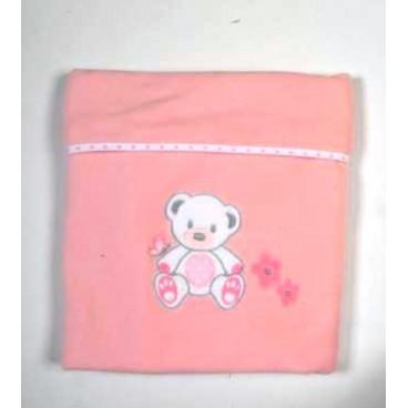 Baby Star Κουβέρτα Fleece Μεγάλη Χρωματιστή Με Ρέλι Sweet Dots