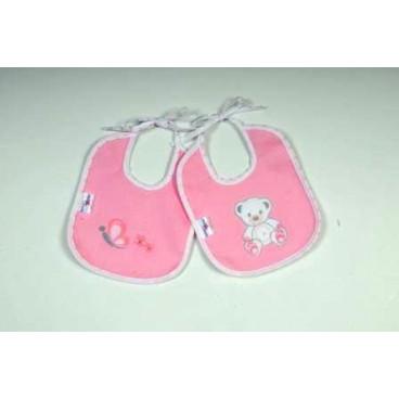 Baby Star Σαλιάρα αδιάβροχη μικρή χρωματιστή sweet dots