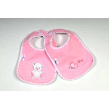 Baby Star Σαλιάρα αδιάβροχη με αυτοκόλλητο χρωματιστή sweet dots