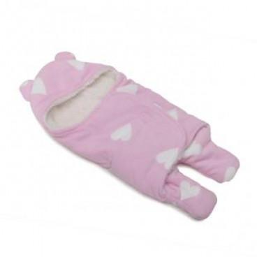 Cangaroo Κουβέρτα Fleece Φασκιώματος Cosy Pink 3800146260507
