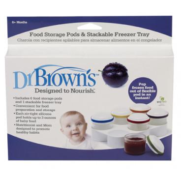 Dr.Brown Κυπελλάκια Κατάψυξης Φαγητού Με Θήκη 770-GB