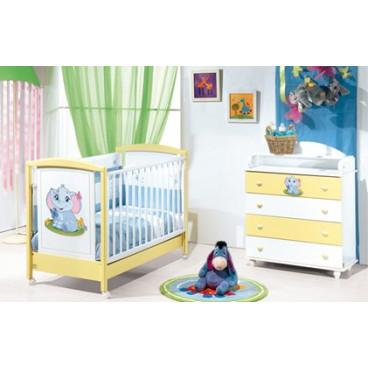 Licno Σετ Κρεβάτι-Συρταριέρα Ίρις κίτρινο-λευκό
