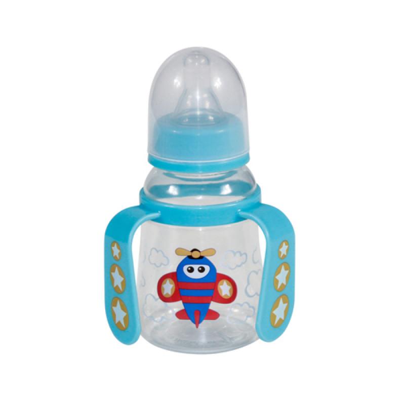 Lorelli Μπιμπερό Με Χερούλια Πλαστικό 125ml Γαλάζιο 1020065