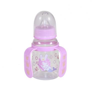 Lorelli Μπιμπερό Με Χερούλια Πλαστικό 125ml Ροζ 1020065